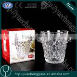Wholesale high quality clear glass ice bucket