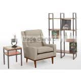 Wooden bedroom single sofa chair soft modern living room sofa chair