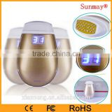 Portable fractional rf Intelligent temperature control Radio frequency machine home use galvanic facial machine
