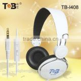 October hot selling mobile phone cheap stylish over ear headphones with comfortable ear pads and leather headband for big logo