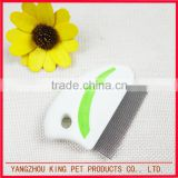 Pet cat head lice clean product stainless steel nit comb (also for kids)
