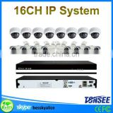 16 channel indoor/outdoor wireless ip camera cctv kit security system,1080P hd ip camera nvr system