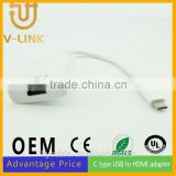 Hot sell usb 3.1 type c data cable c type usb to vga adapter for computer Printer Digital devices