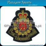 Handmade Embroidered Bullion Wire Blazer Badge