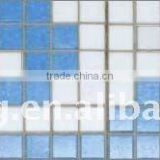 4mm thickness blue color glass moaic for swimming pool borders and wall line