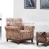 single sofa with ottoman / baroque armchair HS13