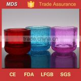 Colored blown thick tealight cone shaped glass candle holder                                                                         Quality Choice