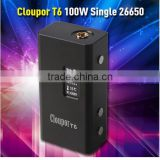 Electronic Stock Lots Original Cloupor T6 100 Watt Mod with 26650 battery BOX Style Mod Coupor T6