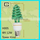 half spiral color energy saving lamp long lifespan, high quality,low price