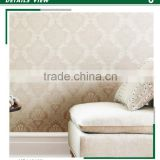stock lot embossed pvc wallpaper, latte classic damask wall decal for office , imported wall paper maker