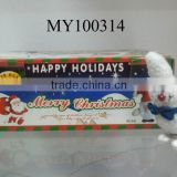 plush wind up snowman/ Santa/ white ghost 12pcs/ box Children wind-up series toys for Christmas day promotion