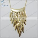 New arrival Chunky Chain Necklace,Gold Tassel Necklace,artificial gold long chain necklace