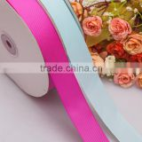 Supply popular light blue petersham ribbon 7/8 crimping ribbon with plastic roll                                                                         Quality Choice