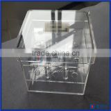 Wholesale Clear Acrylic flower vase/small acrylic flower display case /decorate acrylic rose display box