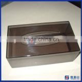 Hot sale!! custom made clear acrylic tissue box holder for table napkin / napkin tissue holder