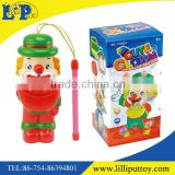 Blow bubbles cartoon clown lantern toy with music