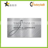 Embossed blank business metal card/ Stainless steel business cards/Noble Metal business card                                                                         Quality Choice