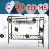 cheap and comfortable dark grey bunk bed frame for hostels
