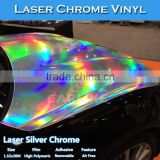CARLIKE 1.52x20M Laser Chrome Holographic Rainbow Color Wrap Vinyl Stickers
