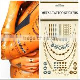 China Supplier High Quality Body Temporary 3D Golden Tattoo Sticker                                                                         Quality Choice