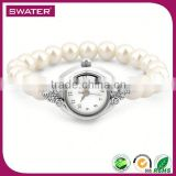 Indonesia Wholesale Jewelry Pearl Women Fashion Hand Watch
