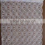 Best Quality White Cotton Lace Embroidery Fabric/ White African Lace Fabrics Cotton Lace For Wholesaler/100% Cotton Fabric