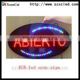 "12""X24""X1"" 12V 20mA lighted led open sign board LED Bar Sign ,Open Signs,LED Sign with Low Price indoor led neon open sign"