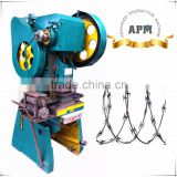 Cross Type Razor Barbed Wire machine/Concertina Razor Barbed Wire/Razor Wire Mesh machine