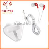 MOQ Hot Selling White Cord With Red Ear Buds for Mobile Phone