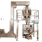 Automatic combination Electric multihead weigher with vertical form fill seal packaging machine