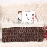 Factory wholesale polyrattan round bread basket for bakery or home use