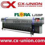 flora LJ320P spectra polaris 512 15pl head solvent digital banner printer printing machine
