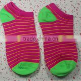 2015 funky Striped Knitting Lady Ankle/Low Cut Socks