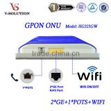 Highest Speed Wifi Router with 2GE 1POTS Wireless FTTH GPON ONT ONU Fully Compatible with Huawei Fiberhome OLT