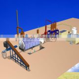 the fully automatic running of pyrolysis plant to recycle waste tire be fuel oil and gasoline