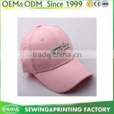 guangzhou factory embroidered logo sports cap hot pink color 6 panel baseball cap wholesale