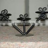 Wrought iron wedding candelabra