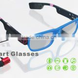 2015 new video glasses with bluetooth, camera, flash light