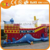 Commercial inflatable pirate ship, inflatable pirate ship with air blower, pirate ship inflatable toys