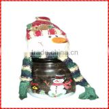 Funny resin snowman handmade large christmas swear jar