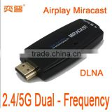 Does not need APP Miracast Airplay DLNA for Apple Iphone Samsung S3 S4 for Android smartphone
