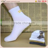 factory custom design cotton male's socks manufacturer supplier white socks,men sports