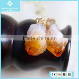 Unique Fashion Natural Yellow Topaz Stone Pendant Jewelry China Wholesale