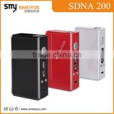 luxury products factory price 200w box mod with temp control, DNA 200 with Dna 200W Chip
