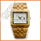Wooden watch & leather band watch as your requirement