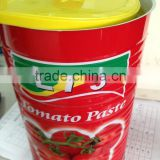 top quality manufacturer natural canned china tomato paste 4.5kg 4500g color printed tin factory double concentrated