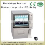 Cheap price 10.4 inch LCD display Fully Auto Hematology Analyzer blood analyser machine 21 parameter WBC RBC PLT by CE approved