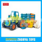 B/O truck car toys farmer and animals truck cars toys with music and light for kids