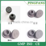 Hot sale different kinds of Butyl rubber stoppers for injection vials