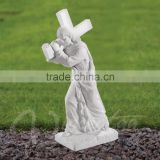 Garden statues wholesale hand carved marble product Jesus sculpture classic garden statues for sale